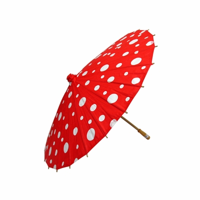 32 Quot Red Polka Dot Paper Parasol Umbrellas On Sale Now