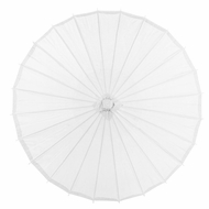 "32"" White Paper Parasol Umbrella"