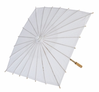 "23"" White Paper Parasol Umbrella, Square Shaped (Discontinued)"