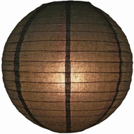 """8"""" Black Round Paper Lantern, Even Ribbing, Hanging (Light Not Included)"""