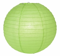 """8"""" Grass Green Round Paper Lantern, Even Ribbing, Hanging (Light Not Included)"""