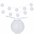 """4"""" White Round Shaped Party String Lights"""