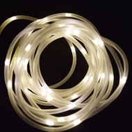 50 Warm White LED Solar Powered Garden Stake Rope Tube String Light  w/ Light Sensor (16.5 FT)