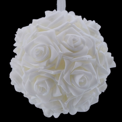 6 5 Quot White Foam Flower Pomander Small Wedding Kissing Ball For Weddings On Sale Now Wedding Decorations