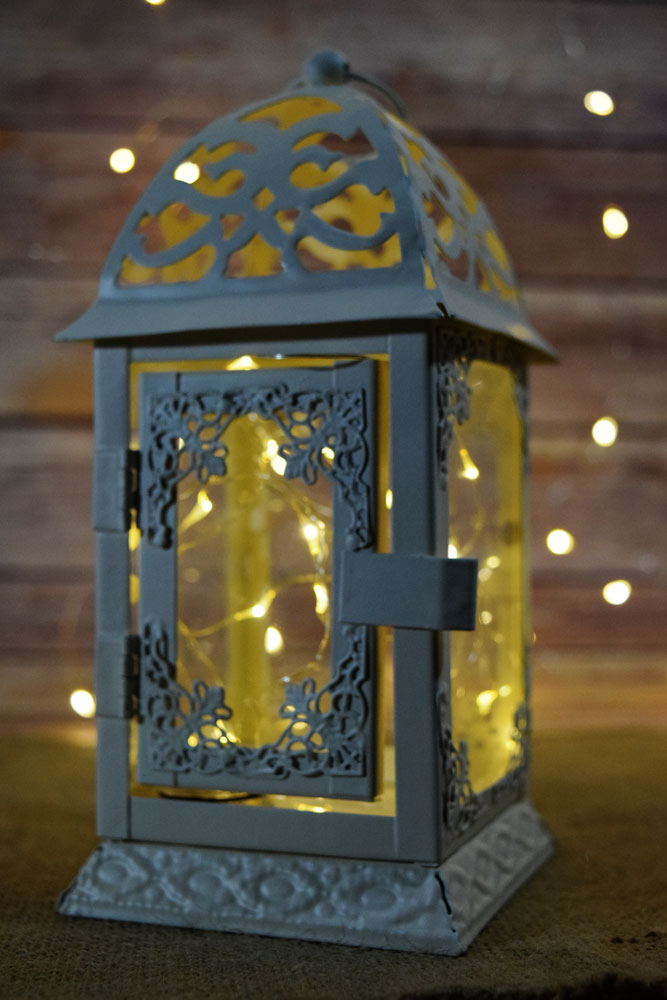8 Quot Beige Ivory Classical Square Hurricane Candle Lantern