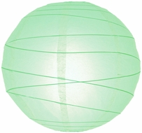"""8"""" Cool Mint Green Round Paper Lantern, Crisscross Ribbing, Hanging (Light Not Included)"""