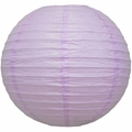 "8"" Lavender Round Paper Lantern, Even Ribbing, Hanging  (Light Not Included)"