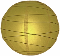 """BLOWOUT 8"""" Pear Round Paper Lantern, Crisscross Ribbing, Hanging (Light Not Included)"""
