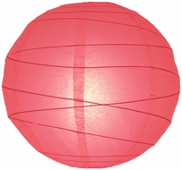 """8"""" Roseate / Pink Coral Round Paper Lantern, Crisscross Ribbing, Hanging (Light Not Included)"""