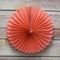 "8"" Roseate / Pink Coral Tissue Paper Flower Rosette Fan Decoration (6 Pack)"