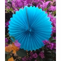 "8"" Turquoise Tissue Paper Pinwheel Decoration (6 Pack)"