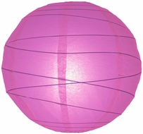 """8"""" Violet / Orchid Round Paper Lantern, Crisscross Ribbing, Hanging (Light Not Included)"""