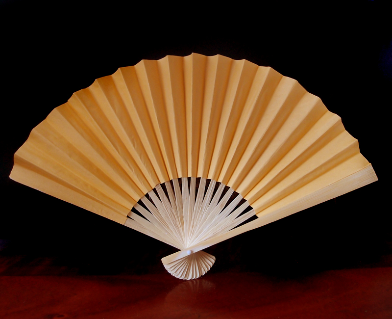 9 Quot Papaya Chinese Folding Paper Hand Fan For Weddings On