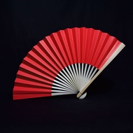 "9"" Red Paper Hand Fans for Weddings, Premium Paper Stock (10 PACK)"