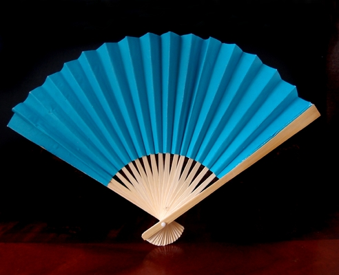 9 Quot Turquoise Paper Hand Fans For Weddings 10 Pack On