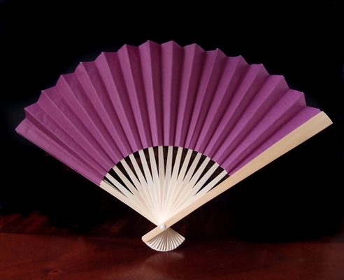 9 Quot Violet Paper Hand Fans For Weddings 10 Pack On Sale