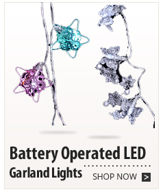 Battery Operated LED Garland Lights