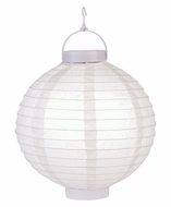 Beige LED Round Paper Battery Lantern