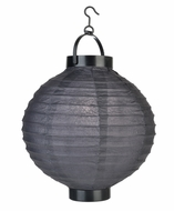 Black LED Round Paper Battery Lantern