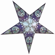 """24"""" Blue Galaxy Paper Star Lantern, Hanging (Light Not Included)"""