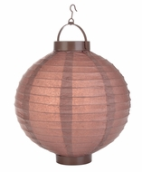 Brown LED Round Paper Battery Lantern