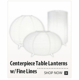 Centerpiece Table Lanterns w/ Fine Lines