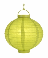 Chartreuse LED Round Paper Battery Lantern