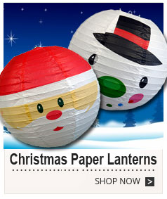 Christmas Holiday Theme Paper Lanterns