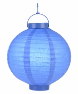 Dark Blue LED Round Paper Battery Lantern