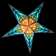 """24"""" Dolphins Paper Star Lantern, Hanging (Light Not Included)"""