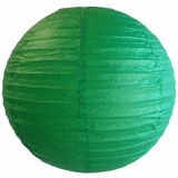 Emerald Green Round Even Ribbing Paper Lanterns