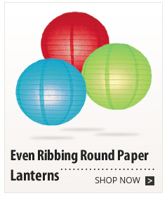 Even Ribbing Round Paper Lanterns