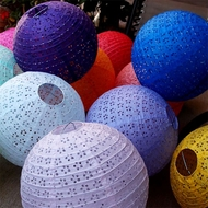 Eyelet Lace Look Paper Lanterns