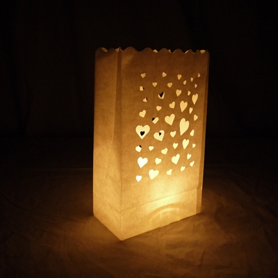 Floating Hearts Paper Luminaries Luminary Lantern Bags