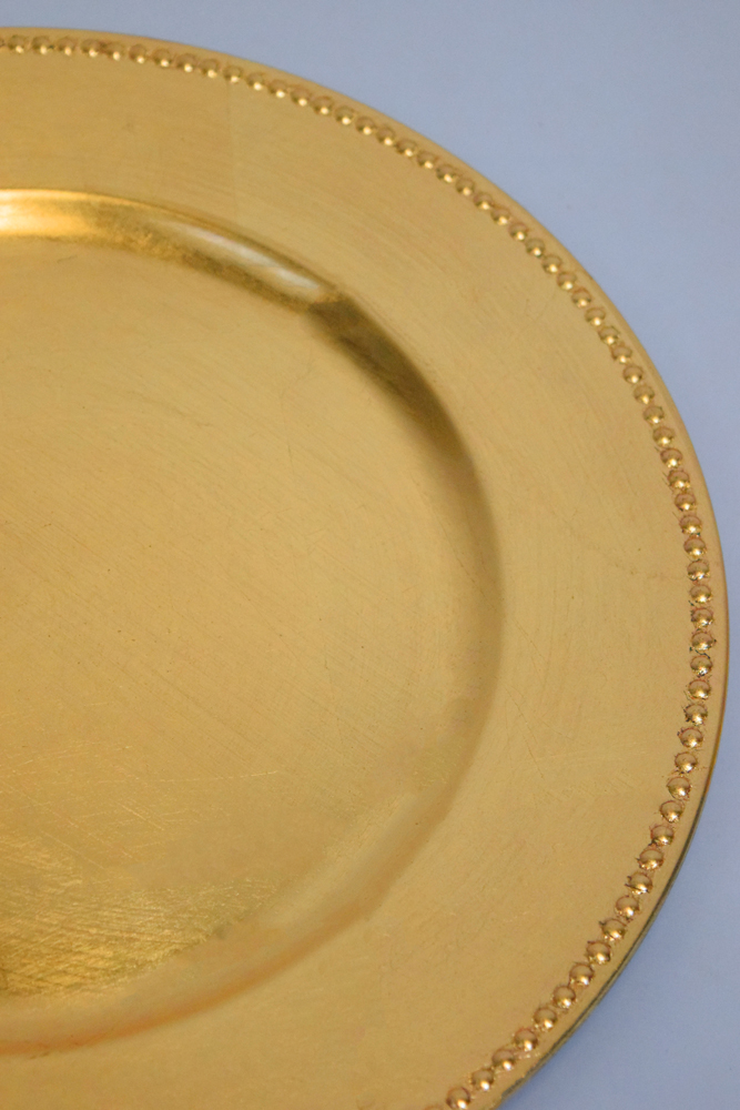 Gold Beaded Charger Plate 13 Inch On Sale From