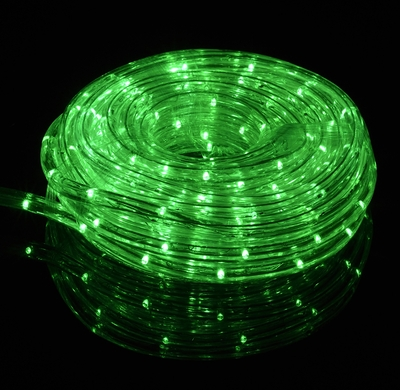 green outdoor led fairy string rope light 33 ft clear tube ac plug