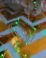 20 Green LED Micro Fairy Wire String Lights (6ft, Battery Operated)