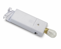 Single Bulb Hanging Battery Light For Lanterns, White