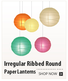 Irregular Ribbed Round Paper Lanterns