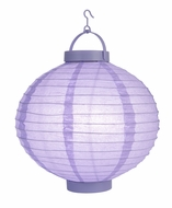 Lavender LED Round Paper Battery Lantern