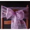 Lavender Organza Chair Sashes (9FT, 10 Pack)