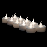 LED Battery Operated Flameless Tea Light Candles - Cool White (12 PACK)