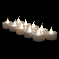 LED Battery Operated Flameless Tea Light Candles - Warm White (12 PACK)