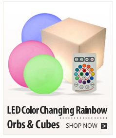 LED Color Changing Rainbow Orbs & Cubes