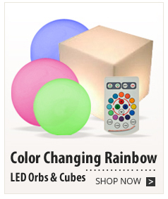 Color Changing Rainbow LED Orbs & Cubes