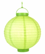 Light Lime LED Round Paper Battery Lantern