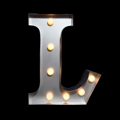 Marquee Light Letter L Led Metal Sign 10 Inch Battery
