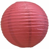 Marsala / Burgundy Wine Round Even Ribbing Paper Lanterns