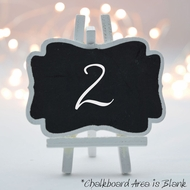 Mini Chalkboard Easel Wedding Table Name Number Sign (6 PACK)