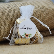 Mini Luxury Lace Favor Gift Pouch / Goodie Bag w/ Satin Pull String - 3 x 4in (4-PACK)